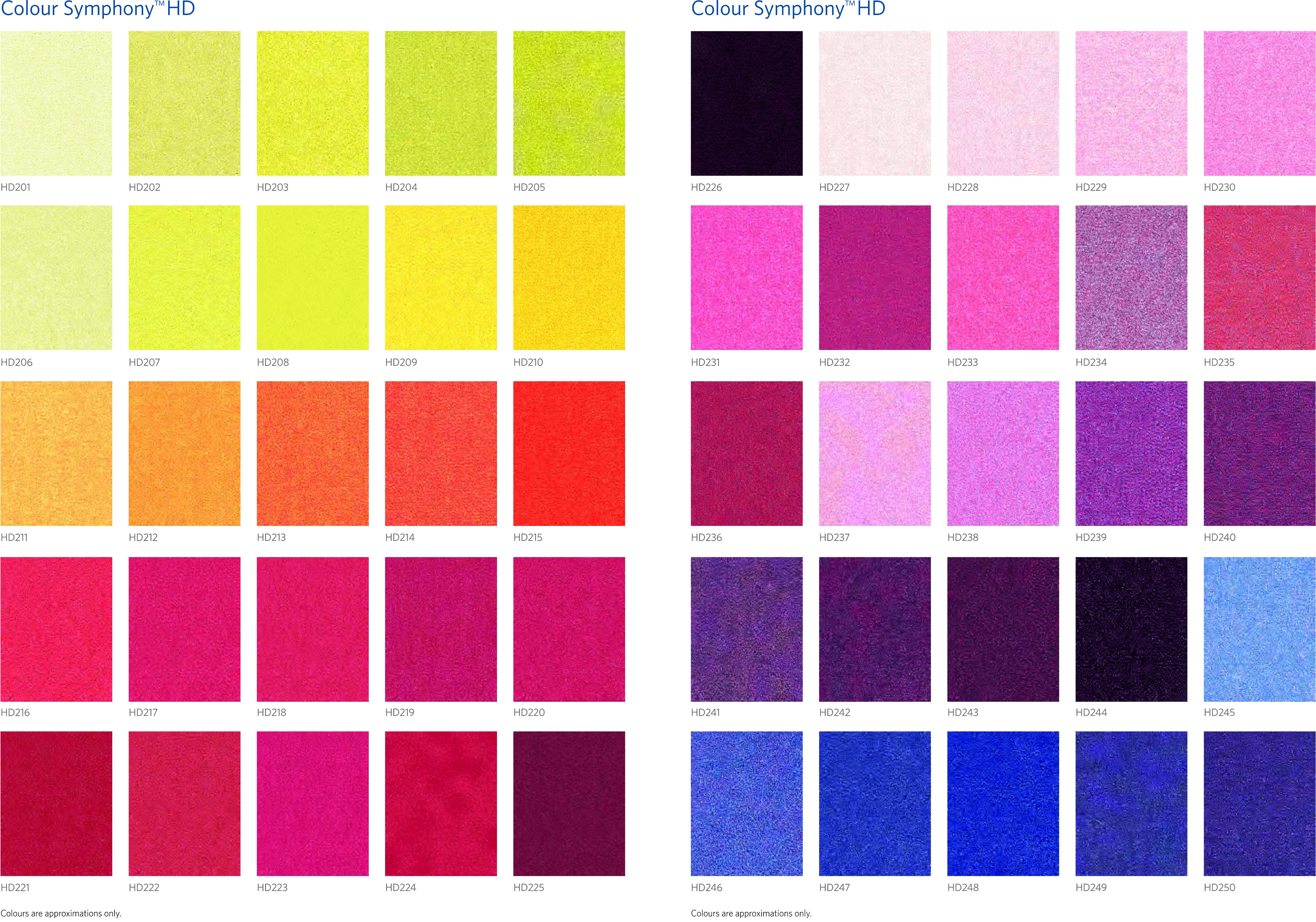 Reklamemåtter.dk | Tryk og logo i farver | Standard farvepalette
